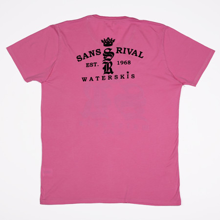 SansRival - t-shirt - waterskis - king - color pink - back