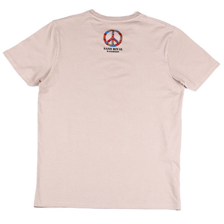 SansRival - t-shirt - military - give peace a chance - waterski - color sand - back