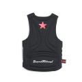 SansRival – PRO Neoprene Vest – watersport – waterski – color black – back – red star