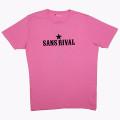 SansRival – t-shirt – peace – waterski – love – rock n'roll – color pink