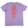 SansRival – t-shirt – peace – waterski – love – rock n'roll – color lila – back
