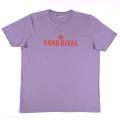 SansRival – t-shirt – peace – waterski – love – rock n'roll – color lila – front
