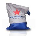 SansRival - accessories - bean bag - color grey blue - red star