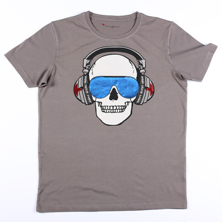 SansRival - t-shirt - skull - color dark grey