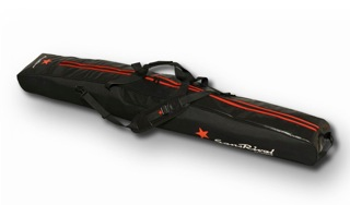 SansRival - travelbag - fin protection - accessory - waterski - color black - red star