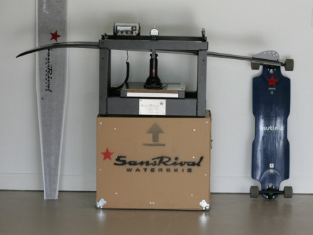 SansRival - waterski - flex machine - long board