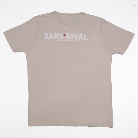 SansRival - t-shirt - hero - waterskis - color sand - back