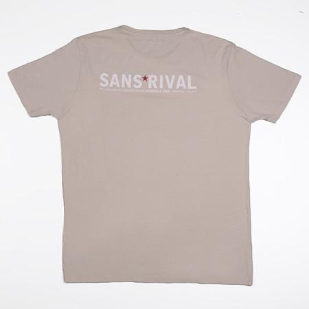 SansRival - t-shirt - hero - waterskis - color sand - back