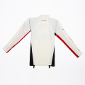 SansRival – lycra shirt – long sleeve – color red white black – back