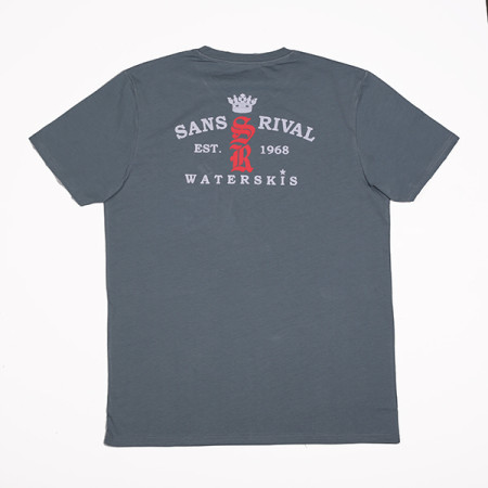 SansRival - t-shirt - red star - waterskis - accessories - color blue