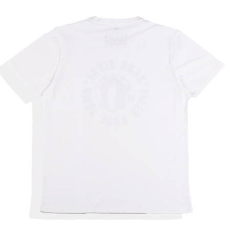 SansRival - t-shirt - helmet - speed race jump - color white - back