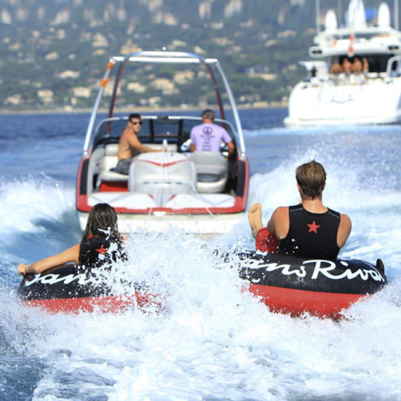 SansRival - water sports - tube - color black red - boat